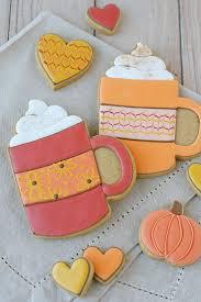 decorated cookies pumpkin spice mug cookies glorious treats
