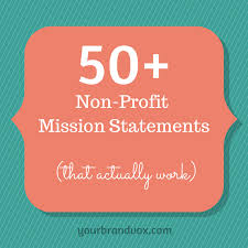 Sle Financial Statement For Non Profit Organizations by 50 Non Profit Mission Statements To Inspire Your Organization