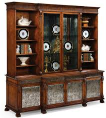 China Cabinet And Dining Room Set Breakfront China Cabinet High End Dining Rooms Home Furnishings