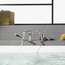 bathtub mixer tap deck mounted chromed metal bathroom imo bathtub mixer tap deck mounted chromed metal bathroom imo 27312670 by sieger design