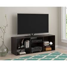 walmart tv table stand tv stand or shelving unit for tvs up to 55 espresso walmart com
