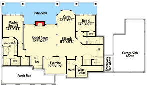 Two Master Bedroom Floor Plans Country Cottage With Dual Master Suite 25605ge Architectural