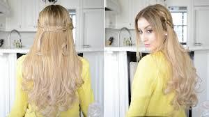 dutch braided half up half down hairstyle fancy hair tutorial