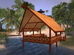 Tiki Hut Paradise Second Life Marketplace Tiki Hut Beach Pavilion Paradise