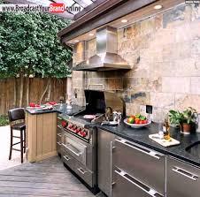 sommerküche selber bauen grill bereich im garten küche