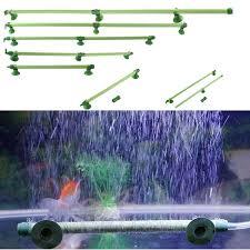 new green fish tank aquarium air wall aeration