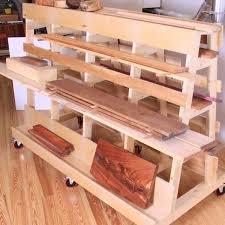 Wood Storage Shelves Plans by 135 Best Workshop Lumber Storage Images On Pinterest Workshop
