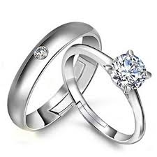 couple rings silver images Fashion lovers rings silver adjustable couple ring jewelry e019 jpg