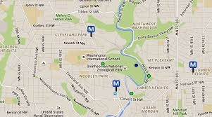 washington dc metrobus map national zoo maps and directions washington dc