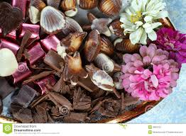 flowers and chocolate flowers and chocolate stock photos image 4994723