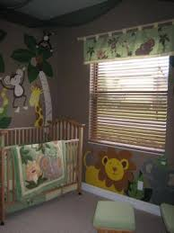 jungle baby nursery theme safari nursery wall mural ideas monkeys