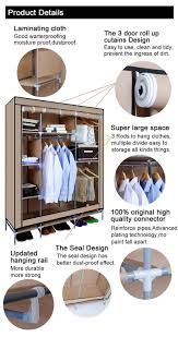 Fabric Bedroom Furniture by Non Woven Fabric Wardrobe Closet For Clothes Storage Portable