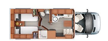 class a rv floor plans unity class c rv leisure travel vans