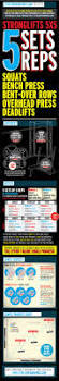 weight training stronglifts 5x5 fitness infographics i am so