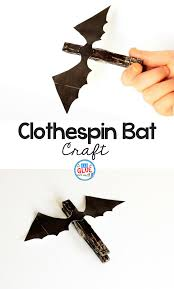 easy clothespin bat craft a dab of glue will do