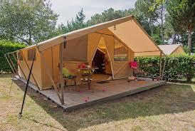 tente 2 chambres tente meublée safari 5 personnes cing é guernehué golfe du