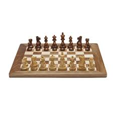 Wooden Chess Set Deluxe English Chess Set U2013 Weighted Pieces With Solid Maple