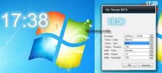 horloge sur bureau windows montre numerique gratuit