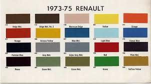 renault colour codes page 2