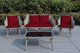 ohana sienna 4 piece wicker patio furniture conversation sofa