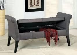 upholstered storage bedroom bench hallway living room versatile