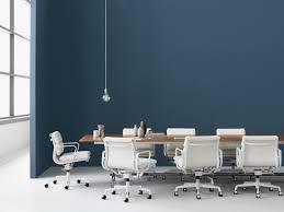 Herman Miller Padded Blue Vintage Chair Eames Soft Pad Management Chair Herman Miller