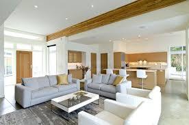 cuisine ouverte sur le salon design interieur cuisine ouverte salon blanc bois canapés gris