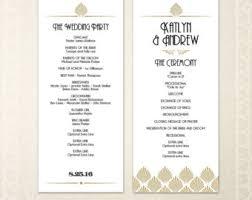 tea length wedding program template printable wedding program template greenery wedding programs