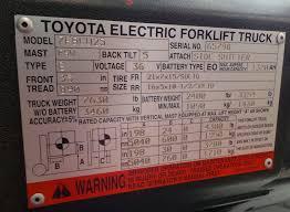 ces 20669 toyota 7fbcu25 electric forklift coronado equipment sales