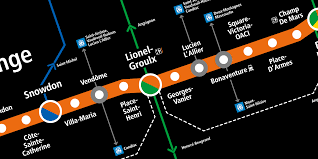 Montreal Metro Map by