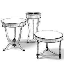 Pedestal Coffee Table Round Pedestal Coffee 3d 3ds