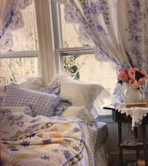lovely cottage bedroom with pretty embroidered curtains victoria