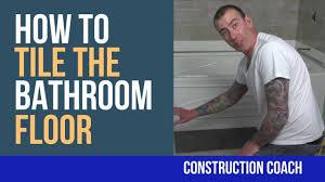 how to tile the bathroom floor diy youtube