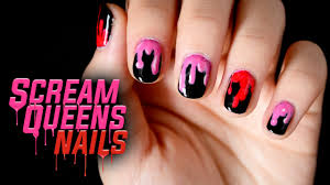 scream queens nail art halloween 2015 youtube
