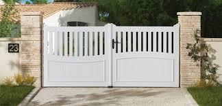 portail pour maison pas cher portail de clôture en pvc pour maison individuelle