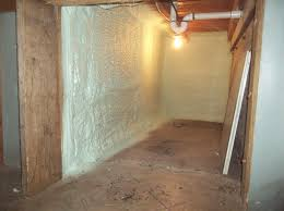 Spray Insulation For Basement Walls Spray Foam Installed Between Wall Studs