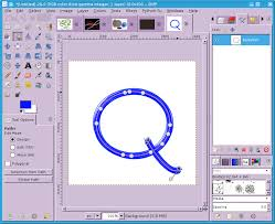 gimp how to make circle with bordered boundary using ellipse