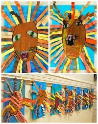1st grade oil pastel lion collages lions pastels and oil