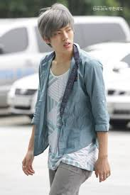 funky hairstyle for silver hair dongwoo infinite grey silver hair hair nails and makeup