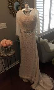 lace 3 4 sleeve wedding dress oleg cassini beaded lace 3 4 sleeve wedding dress cwg711 350