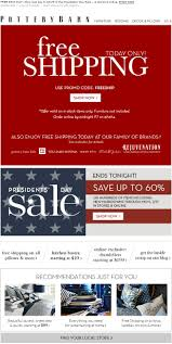 Pottery Barn E Commerce 33 Best Shipping Emails Images On Pinterest Coupon Email Design