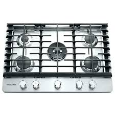 Gas Cooktop With Downdraft Vent Kitchen Great 36 In Gas Cooktops The Home Depot Within Kitchenaid