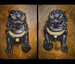 pictures of foo dogs dog painting foo dogs painting feng shui protection