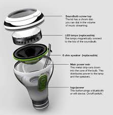 led light bulb speaker soundbulb wireless led speaker light ohgizmo