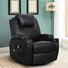 Chairs That Recline Amazon Com Esright Massage Recliner Chair Heated Pu Leather