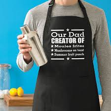 Men Cooking Apron Personalised Men U0027s Signature Dish Apron By Sparks Clothing