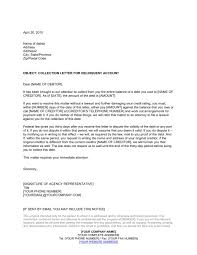 debt collection letter template best letter examples
