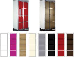 porte coulissante placard cuisine placard coulissant color 2 vantaux 4 panneaux cerise