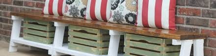 simple diy farmhouse bench tutorial with storage
