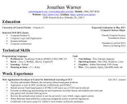 Resume Expected Graduation by Resume